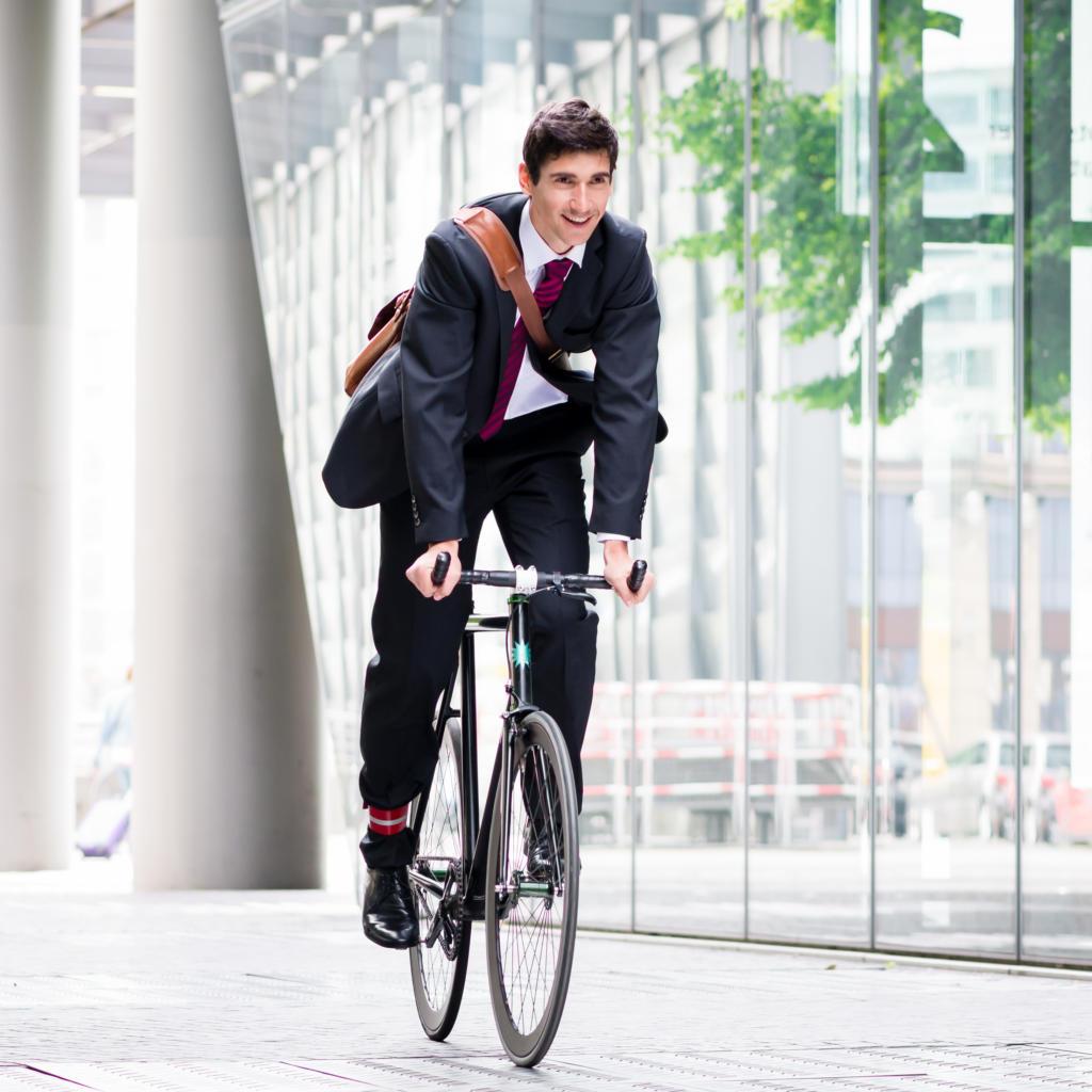 Fahrrad-Pendler Anzug